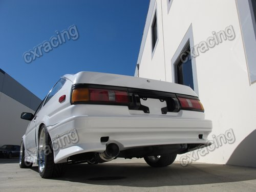 cxracing exhaust catback 2 5 stainless steel for 83 87 toyota corolla ae86 rwd. Black Bedroom Furniture Sets. Home Design Ideas