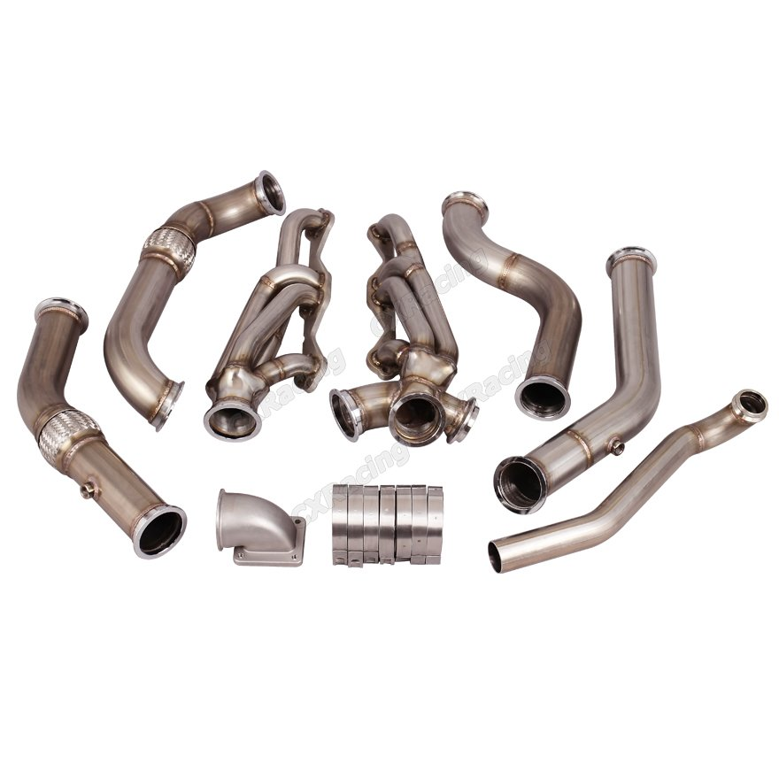 CXRacing Manifold Header Kit For Small Block SBC Engine 67