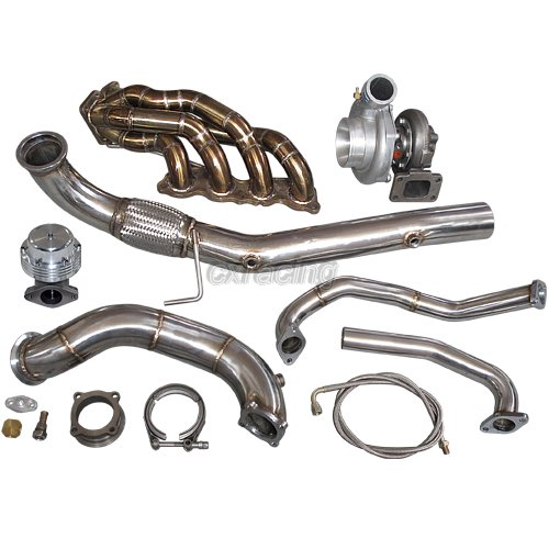 CXRacing GT35 Turbo Kit Thick Manifold Downpipe for Civic ...