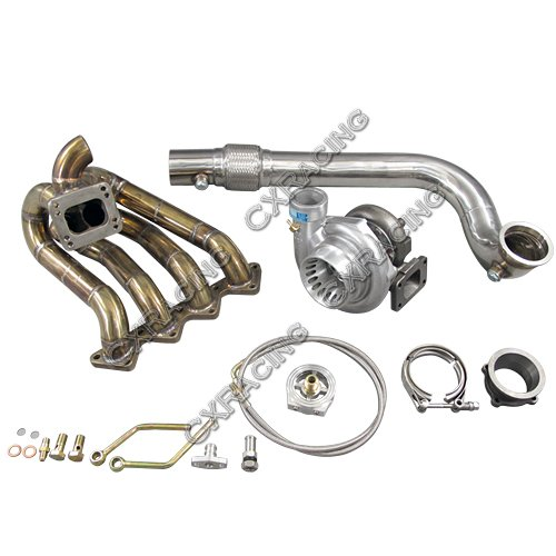 CXRacing GT35 Turbo Charger Kit Top Mount Manifold For