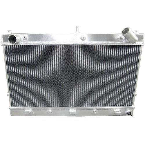 """Aluminum Racing Radiator 1.5"""" Inlets For RX7 FD V-Mount"""