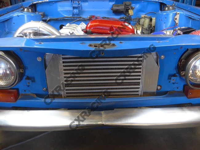Below Blue Car Is A Wagon Need To Trim The Bottom Front Frame Little Bit Fit Intercooler Yellow Coupe And Does Not