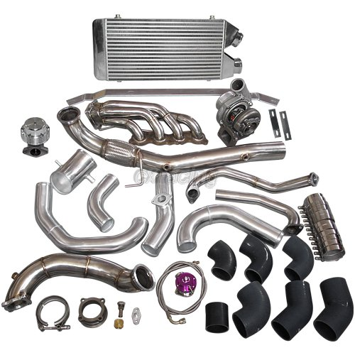 Details about Turbo Kit for Civic Integra DC5 K20 RSX Sidewinder Manifold  Intercooloer Black