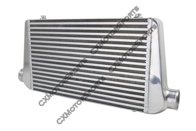 Black Aluminum Front Mount Intercooler 27/'/'x7/'/'x2.5/'/' CIVIC CRX DEL SOL D15 D16
