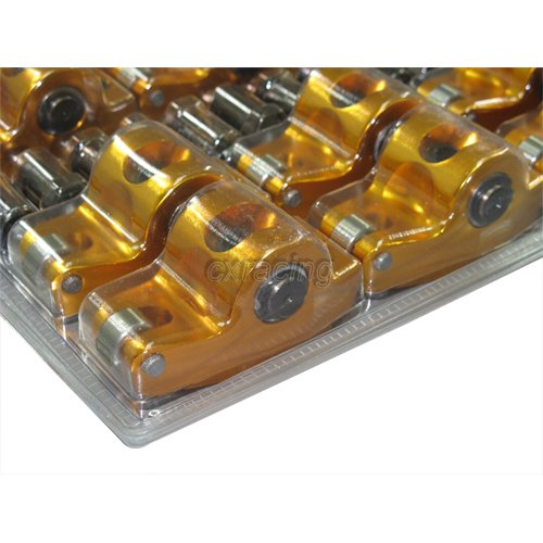 "CXRacing Aluminum ROLLER ROCKER ROCKERS ARMS Kit 1.72"" 7"
