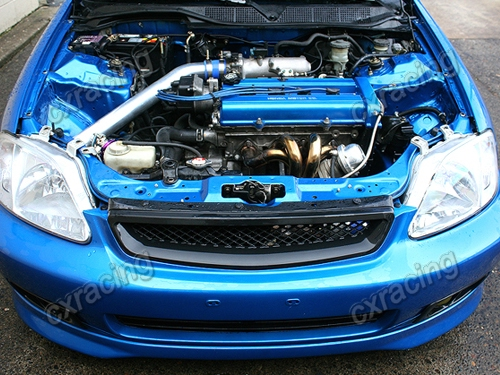 Details about CXRacing Intercooler + Piping Kit BOV For 88-00 Civic D D16  B16 B18