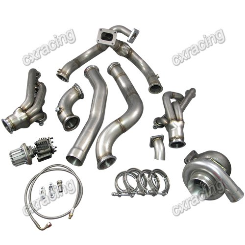 t76 turbo manifold header downpipe kit for 98