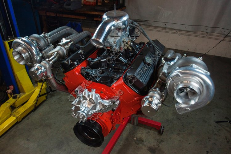 1409 Ford F 150 Engine Upgrade 460 Big Block Power Part 2 furthermore 1003030 Sanderson Headers For 51 F1 W 302 A as well Ford Small Block Runs Rare Hemi Heads Designed By Chet Herbert moreover Ford 370 Bigblock Crate Engines moreover Jeep Go Devil Engine. on ford 460 engine swap