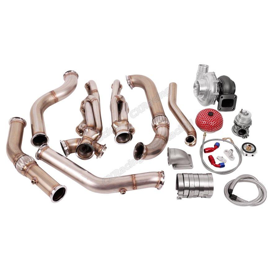 CXRacing Turbo Header Manifold Downpipe Kit For 67-69