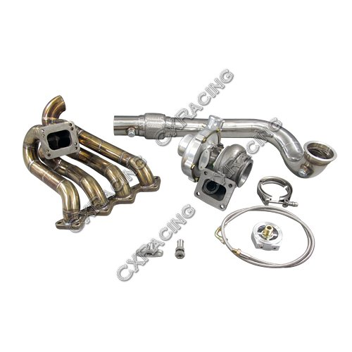 CXRacing T67 T4 Turbo Charger Kit Top Mount Manifold For