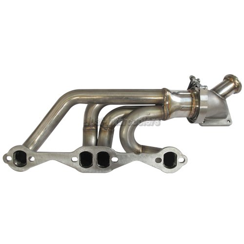 CXRacing Twin Turbo Header + Downpipe Kit For 63-67