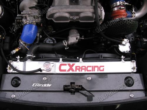 "CXRACING Aluminum Radiator 12/"" Fan FOR 90-97 MIATA MX5 MT"