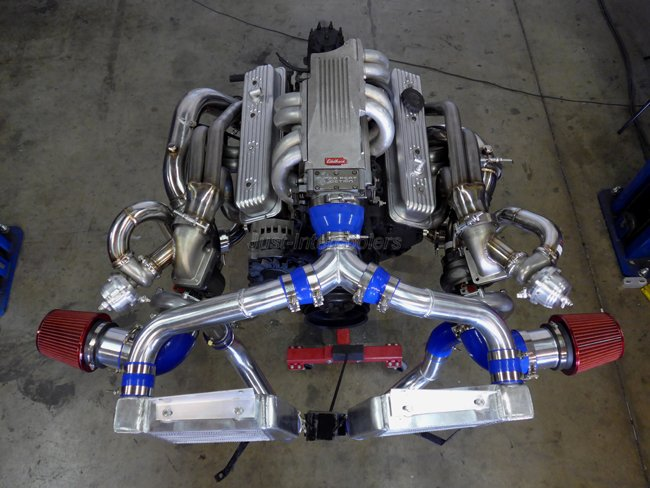CXRacing Twin Turbo Header Kit For 63-67 Chevrolet Chevelle
