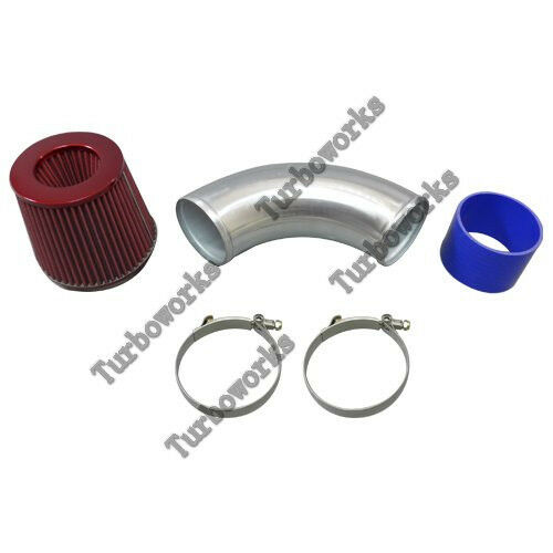 "4/"" Turbo Cold Intake Pipe Filter Kit For 240SX S13 S14 RB20 RB25DET Top Mount"